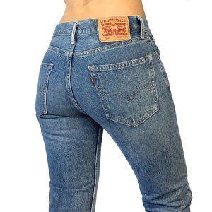 Levis 505 Mid Rise Straight Leg Jean size 6